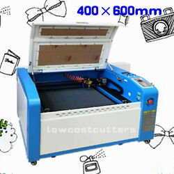 400600mm 50w Co2 Laser Engraving And Cutting Honeycomb Motorized With Rotary