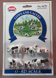 Model Power Cows And Calves O Scale People Figures Mpw 6175 Vf