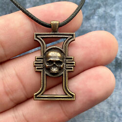 Warhammer 40k Inquisition Pendant, Space Marines Necklace, Brass Jewelry