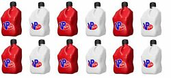 Vp Racing Set Of 12 Red And White 5-gallon Racing Fuel Jugs Imca Scca Gas Cans