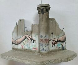 Rare Banksy Walled Off Hotel Wall Section With Tower
