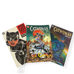 Lot Of 3 Catwoman Graphic Novels Catfile, Dark End Of The Street And Defiant Dc C