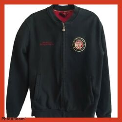 Indian Motorcycle Size M Vintage Full Zip Sweatshirt With Pockets And Patches