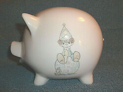 1985 Precious Moments Porcelain Piggy Bank - Your Best Of All On The Ball