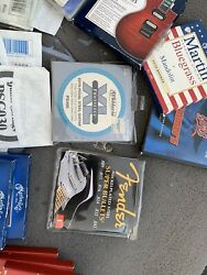 Assorted Vintage Acoustic Or Electric Guitar Strings Martin And Others