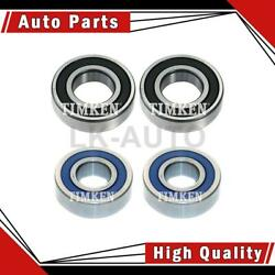 Timken Rear Inner Rear Outer 4 Of Wheel Bearings For Chrysler Conquest