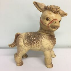 Vintage Toys From 1960s. Rubber Burro Squeaky Toy. The Sun Rubber Company 1961.