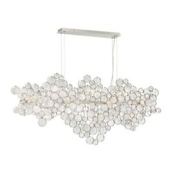 Transitional 15-light Oval Chandelier With Clear Hand Pressed Glass - 24.5 X