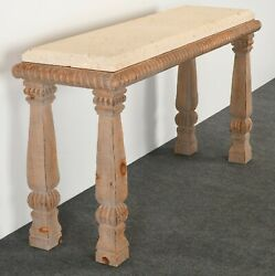 Natural Shell Stone Console Table By Kreiss Furniture