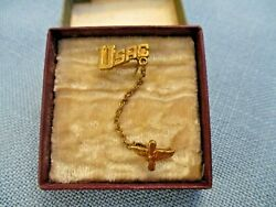 Early Wwii Usac Us Air Corps Chained Sweetheart Pins In Box