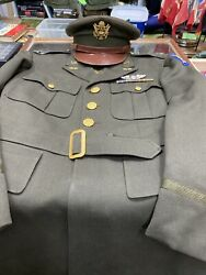Ww2 Army Air Corps Officer Dress Coat And Hat Shipping Included