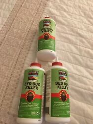 Lot Of 3 Maggie's Farm Bed Bug Killer 3oz Powder Desiccant Dries Bugs Dead- New