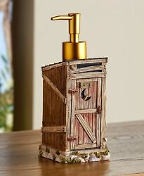 Outhouse Rustic Country Bathroom Decor - Soap Lotion Pump