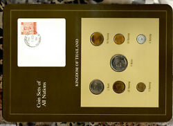 Coin Sets Of All Nations Thailand W/card 1957-1982 Unc Red Stamp 5 Baht 1979
