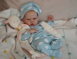 Magnolia Dream Doll Reborn Baby Boy Girl Mindy By Adrie Stote 17'' Painted Hair