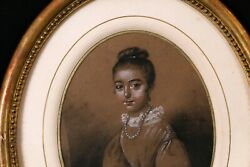Young Girl Drawing Antique And Highlights Of Gouache Signed Boilly Frame 1/2