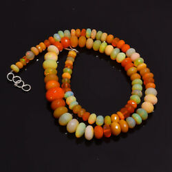 112.5 Cts Natural Black Ethiopian Opal Roundel Beads 5x5 12x12 Necklace 17-18