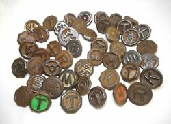 Lot Of 45 ■ Beigoma ■ Vintage Iron Spinning Top ■ Japan Antique Toy ■ 独楽