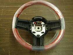Nos Oem 2010 - 2014 Ford Mustang Steering Wheel Red Leather 2011 2012 2013