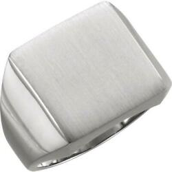 Sterling Silver 16mm Menand039s Closed Back Signet Ring