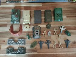 Vintage Revell 1975 Timmee Marx Plastic Gi Toy Soldiers Army Men Lot 22 Tanks