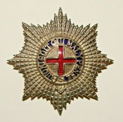 British Military Cap Badge, Coldstream Guards Warrant Officer's Silver Plated