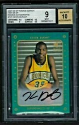 Kevin Durant 2007-08 Sp Rookie Edition Rc Auto 1997 Insert. Bgs Mint Sp 121