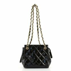 Vintage Chain Tote Quilted Patent Small