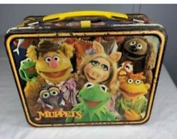 Fozzie Bear And Muppets Metal Lunch Box 1979 Rare Vintage Thermos Lunchbox Only
