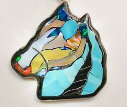 Rare Horse Gemstone Portrait And039endearing Looking Backand039 Pendant Opal Turquoise