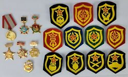 Vtg Russian Military Lot Of Medals And Badges Kgb Artillery Paratrooper Navy
