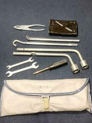 Toyota Motor Vintage Tool Kit Roll Up Bag Wrench
