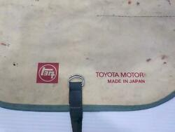Toyota Motor Vintage Tool Kit Roll Up Bag Wrench 1960s 1970s