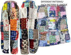 20pc Indian Gypsy Hippie Baggy Alibaba Cotton Yoga Dance Patchwork Harem Pants