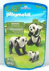 Playmobil Animals Panda Family Adults and Cub 6652 Zoo Animal Toy Figures New