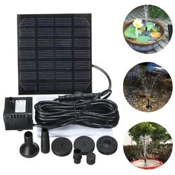 Water Pump Solar Powered Panel Garden Pond Pool Fountains Waterfalls Outdoor New