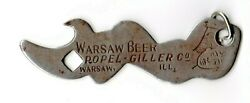 Rare Warsaw Beer, Roper Giller Co. Warsaw Il. Risque Topless Bottle Opener