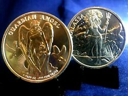 Sale-2in Lotthalassa Andguardian Angeleach Item 1oz.999 Silver-priced Right