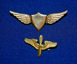 Wwii Era Sweetheart Pins, Wings And Air Service Corps Pins