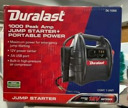 Duralast 1000 Amp Portable Battery Jump Starter With Compressor