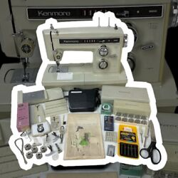 Sears Kenmore Sewing Machine Model 1941 With Accessories 158.19412 Made In Japan