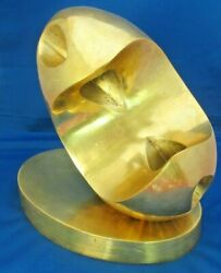 With Video - Signed Full Brass Abstract Sculpture Mid Century Modern Eames Era