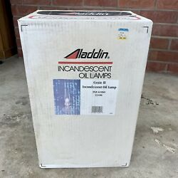 Never Opened New Aladdin Incandescent Oiled Lamp Genie Ii Clear Fg-61060 C6106