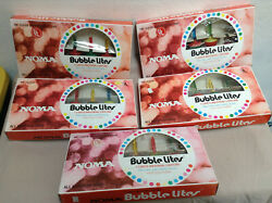 Vintage Noma Bubble Lites Christmas Lights - 5 Box Lot - 4 Working 1 For Repair