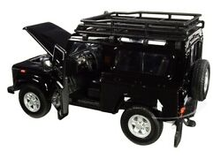 124 Land Rover Defender Black Alloy Car Model Diecast Kids Toy Collectible Gift