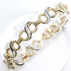 Platinum 850 18k Yellow Gold Bracelet About13.3g About18.5cm Free Shipping Used