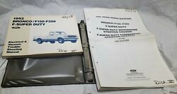 1992 Oem Factory Ford F150 F250 F350 F450 Bronco Truck Wiring Diagrams Manuals