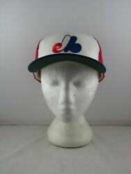 Montreal Expos Hat - Tri Colour Classic By Starter - Adult Snapback