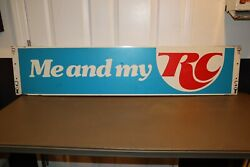 Vintage 46 Advertising Soda Rack Metal Sign Andldquome And My Rcandrdquo Royal Crown Cola
