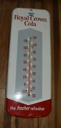 Vintage 26 Royal Crown Rc Cola Soda Pop Advertising Thermometer Sign